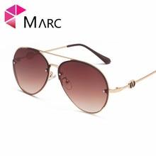 MARC 2019 Fashionable Polit Women Men Sunglasses Mirror simple Design Metal Frame Resin Lens UV400 Protect Eyewear Glasses f225 fashionable zinc alloy frame resin lens uv400 protection sunglasses silver