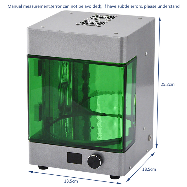 Intelligent UV wavelength LED Rotating Curing Box Chamber For 3D Printer Resin New Desktop 3D Resin UV Rotating Curing Machine 3