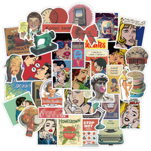 50pcs Vintage Stickers For Stationery Computer Laptop Adesivos Craft Supplies Scrapbooking Material Custom Retro 90s Stickers