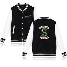 Sweatshirt Baseball-Jacket Hoody Streetwear Riverdale Men Hip-Hop Snake South-Side Serpents