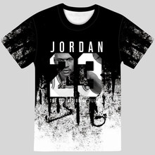 2021 new summer men's Jordan 23 3D T-shirt men's camouflage O-neck fashion breathable printing 23 hip-hop T-shirt casual top
