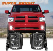 цена на For RAM 1500 2013-2018 2016 Car LED Projecotr Fog Lamp Driving Lights For Dodge Ram Pickup Truck 1500 2013-2017 2014 2015 2016