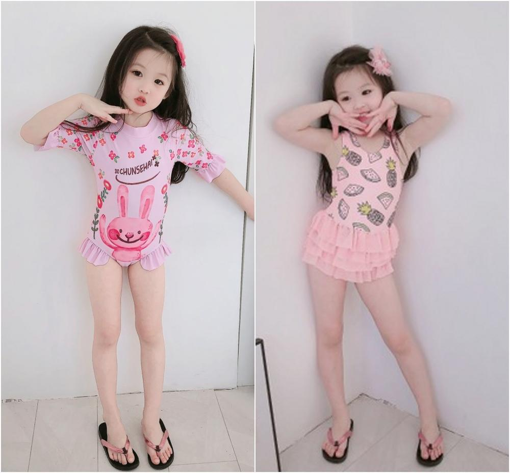 2020Cute Bunny Kids Baby Girls Sleeveless Korea Style Cream Fruit Outfits Summer Beachwear Clothes Overall Jumpsut One Peice