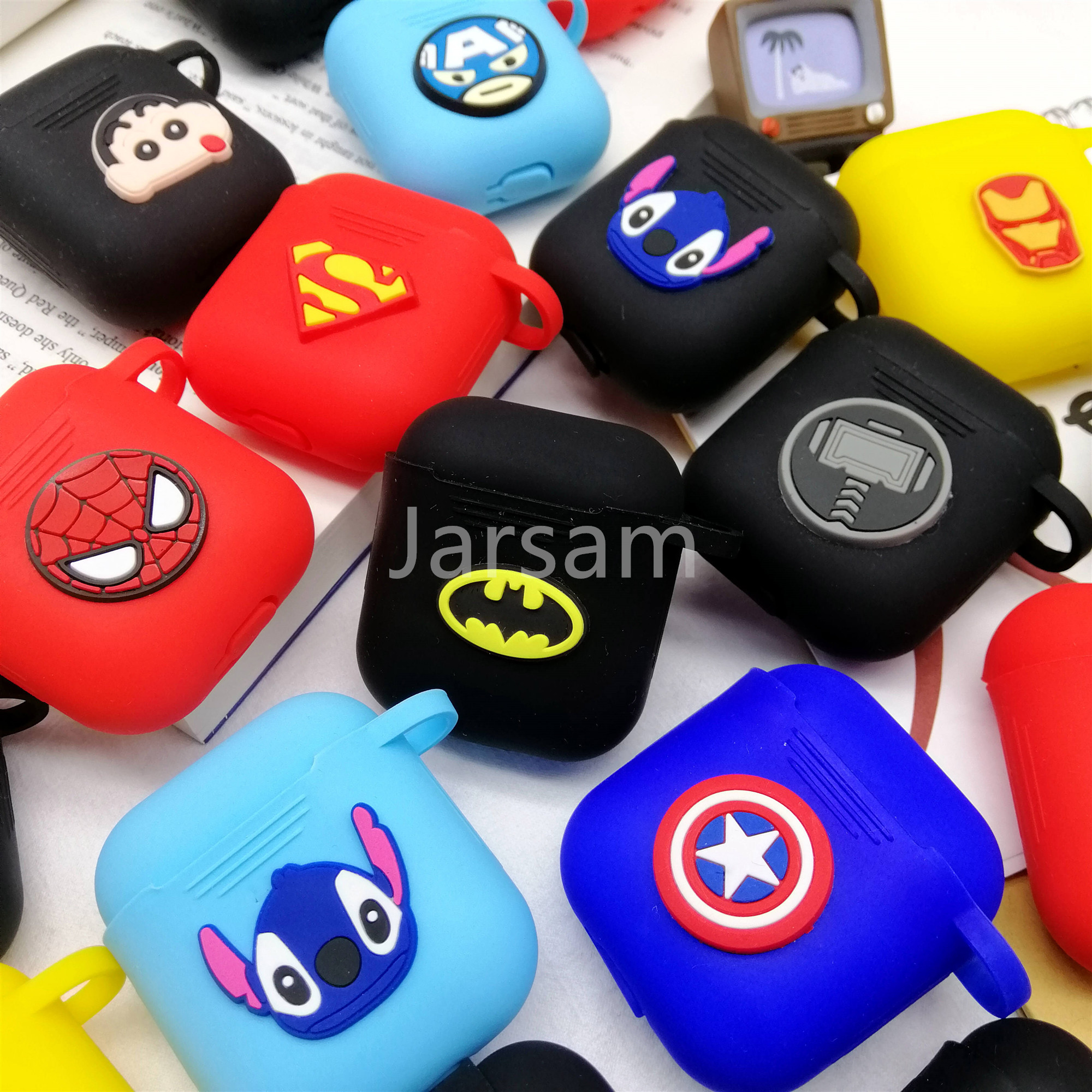 Cartoon Wireless Earphone Case For Apple AirPods 2 Silicone Charging Headphones Cases For Airpods Protective Cover