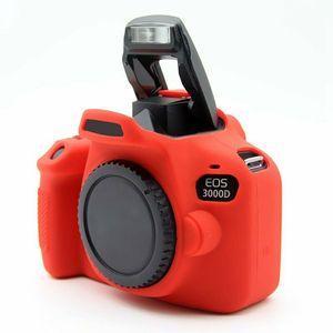Image 5 - Silikon zırh kılıf vücut kapak koruyucu için Canon EOS 4000D 3000D Rebel T100 DSLR kamera sadece