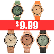Couple Watches BOBO BIRD Men Women Universal Bamboo Watch on Clearance Wooden Leather Quartz Wristwatch часы женские Great Gift
