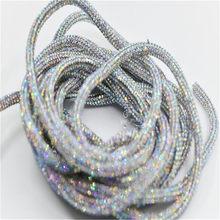 Chaîne de corde tubulaire en strass brillant de 6mm, avec tuyau vide thermofusible, application de mariée, fabrication de bijoux, Bracelet, robe à lacets, bricolage