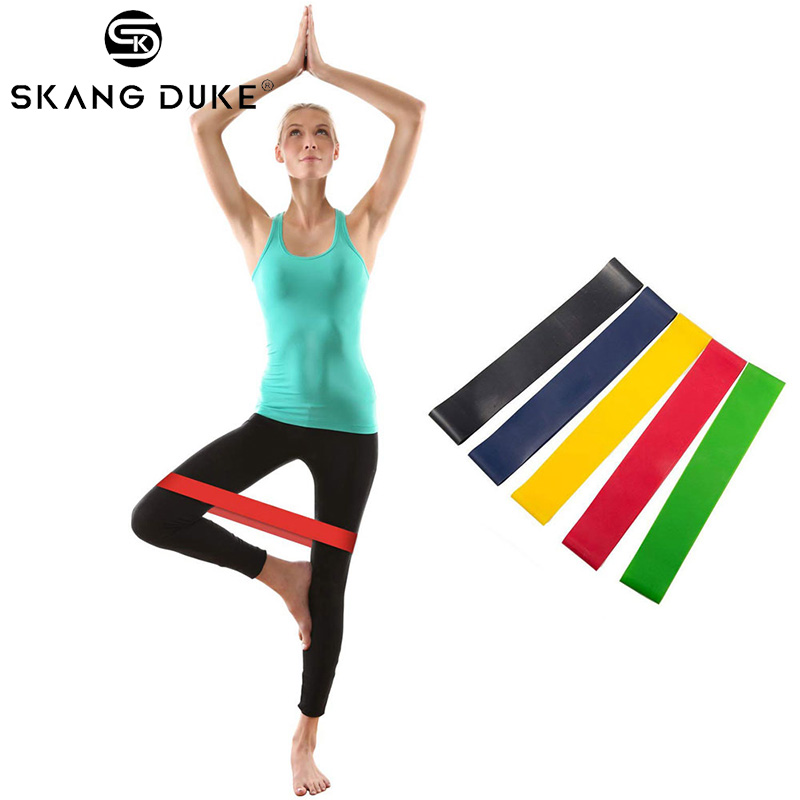 Two Type Resistance Loop Bands Exercise For Home Fitness Gym Strength Training Physical Therapy Natural Latex Yoga Workout Bands
