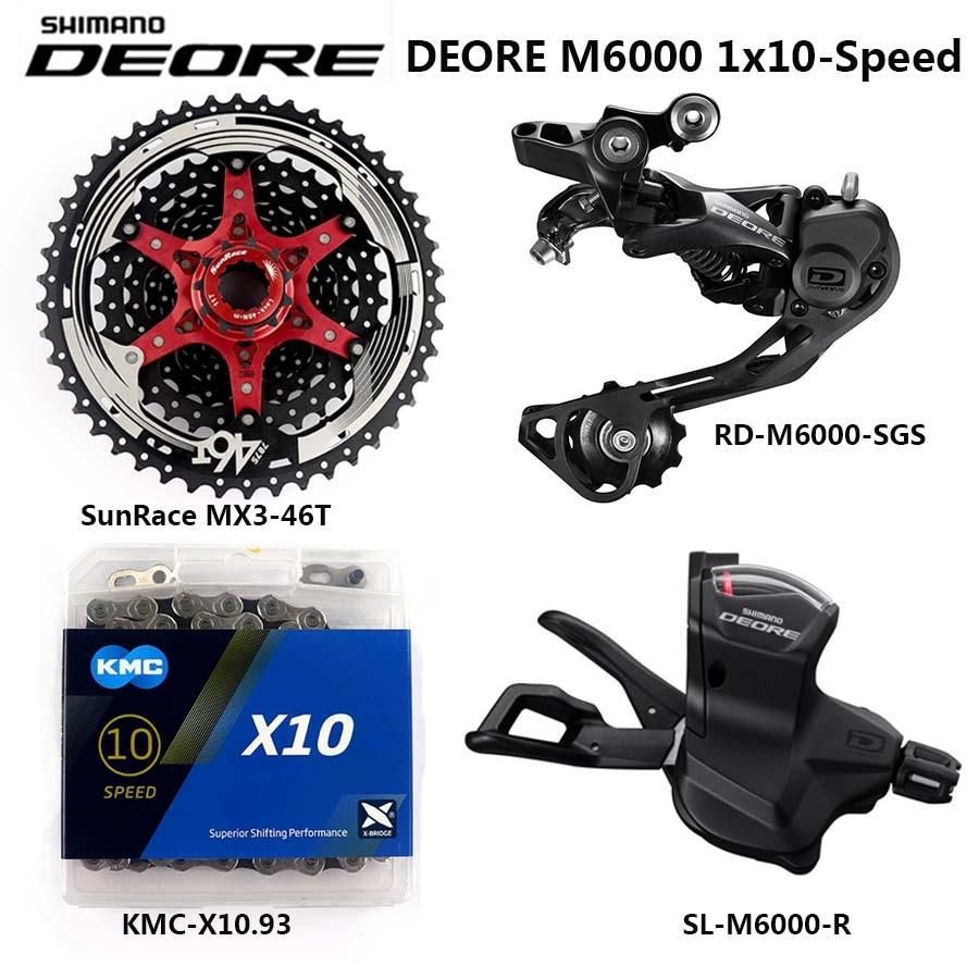 SHIMANO DEORE M6000 Groupset MTB Mountain Bike 1x10-Speed 10S derailleur kit