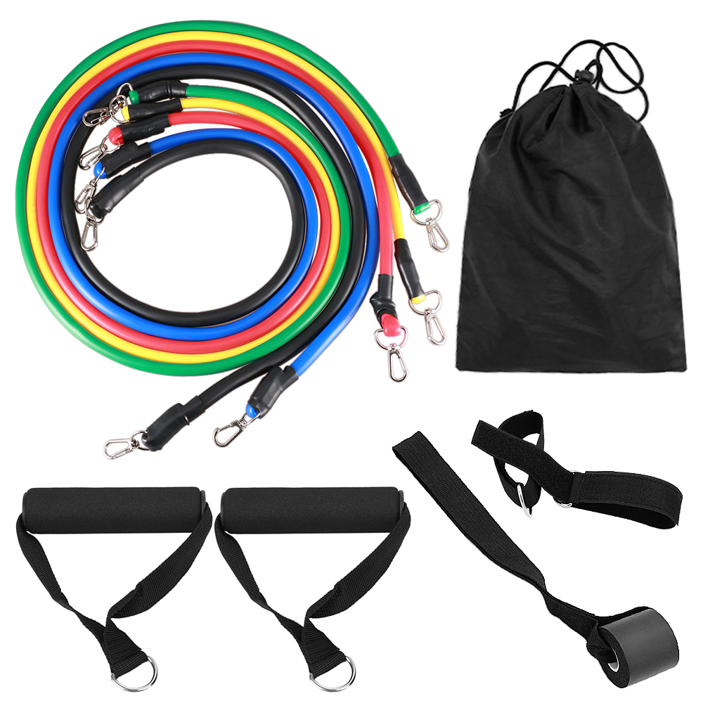 11 PCS Fitness Pull Rope Resistance Bands 5