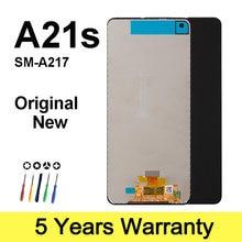 Orijinal dokunmatik ekran Samsung A217 A21s 2020 Lcd değiştirme çerçeve fiyatı ile Lcd dokunmatik ekran Samsung A217