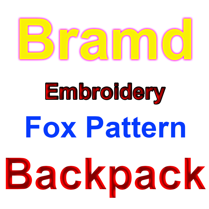 Fashion Mochila Classic Embroidery Backpack Young College Student Laptop Bags Leisure Travel Outdoor Hiking Waterproof Backpacks