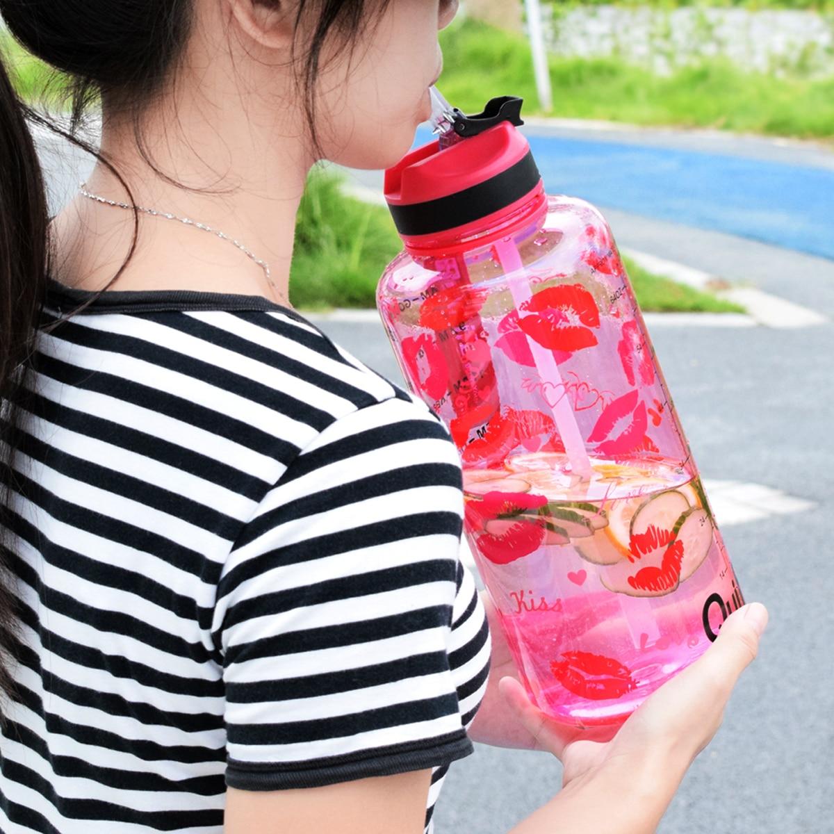 QuiFit 2L 1 3L 450ml Half Gallon Tritan Water Bottle With Straw BPA Free My Drink