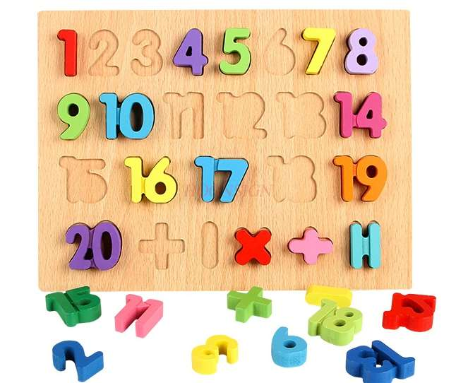 Digital mother jigsaw matching early childhood educational intelligence toys cognitive building blocks 2 3 5 years old   - title=