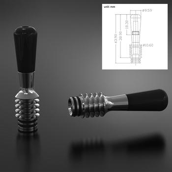 Cloudworkz 510 MTL końcówka kroplowa SS316 metalowa długa końcówka Vape ustnik odporny na ciepło dla RDA RTA zbiornik do e-papierosa Vape akcesoria tanie i dobre opinie Drip Tip