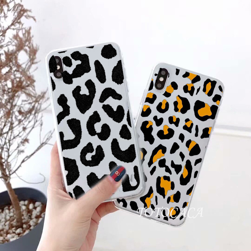 LEOPARD Women Fashion Case for Samsung Galaxy S8 S9 S10 S20 Plus Edge Back Cover A10 A20 A30 A40 A50 A51 A70 A80 Cases ins girl