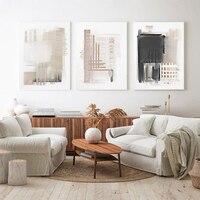 Póster abstracto minimalista de Estilo bohemio, pintura en lienzo sobre la pared, arte Neutral nórdico impreso, imagen moderna para decoración para sala de estar