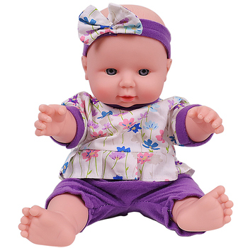 12 Inches Bebe Doll Reborn Toddler Baby Lovely Soft Girl Body Full Silicone Newborn Kids Dolls Clothes For Christmas Gift Toys цена 2017