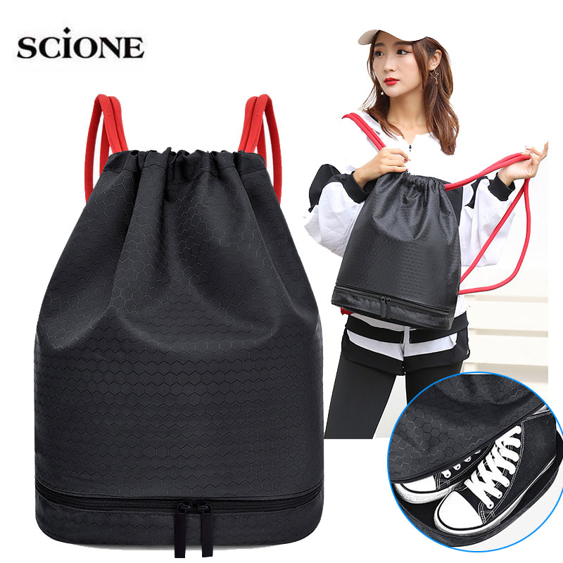 Drawstring Swimming Backpack Dry Wet Bag Sports Bags Shoulder Travel Pool Beach Swimsuit Mochila Waterproof Bag Swim XA317WA