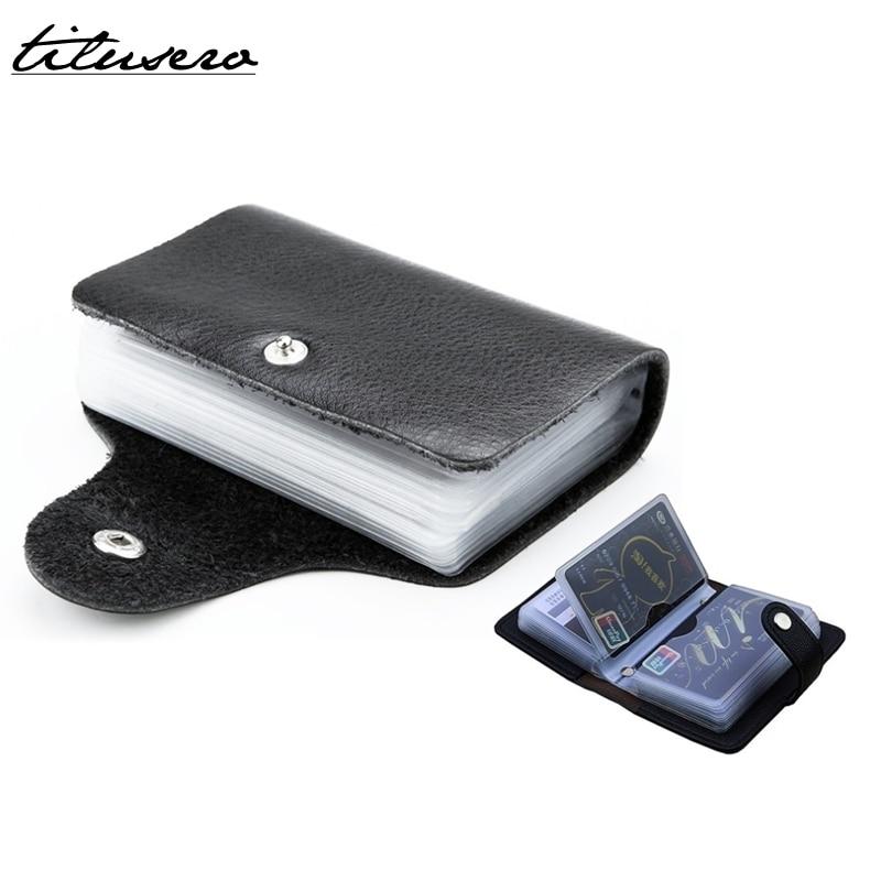 PU Leather Card Holder Card Case Business Men Women Credit Passport Card Bag ID Passport Card Wallet F073