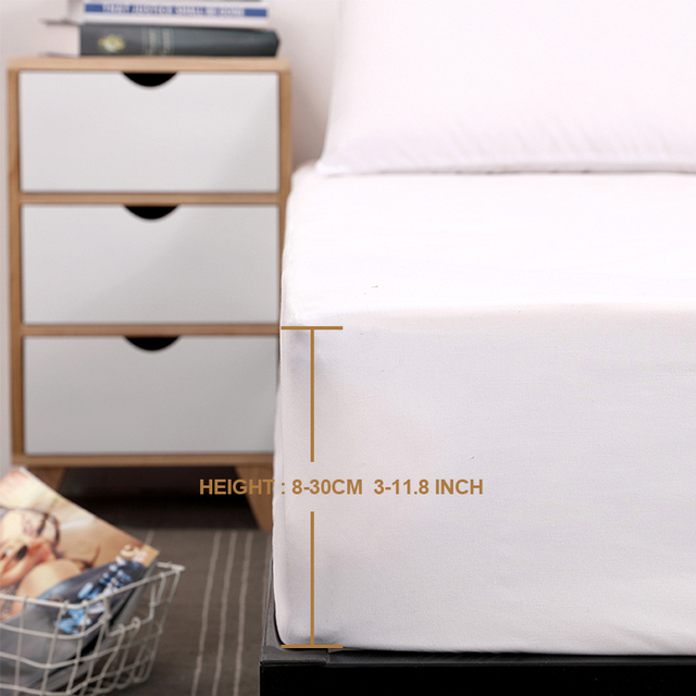 Solid Color Waterproof Mattress Cover 4
