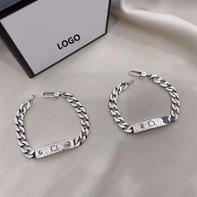 New Ag925 Sterling Silver Europe and America 1:1 Skull Skull Retro Elf Bracelet Men and Women Couple Holiday Gift Bracelet