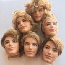 Príncipe ken cabeça de boneca brinquedo crianças presente de aniversário boneca de brinquedo cabeça de brinquedo de boneca diy peças de brinquedo crianças presente de aniversário branco marrom preto pele príncipe