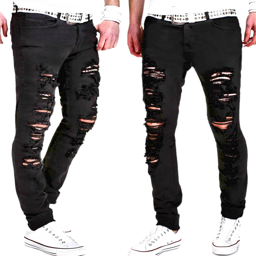 2018 Spring And Summer MEN'S Jeans New Style MEN'S Trousers With Holes Galling Fashion Men Casual Pants