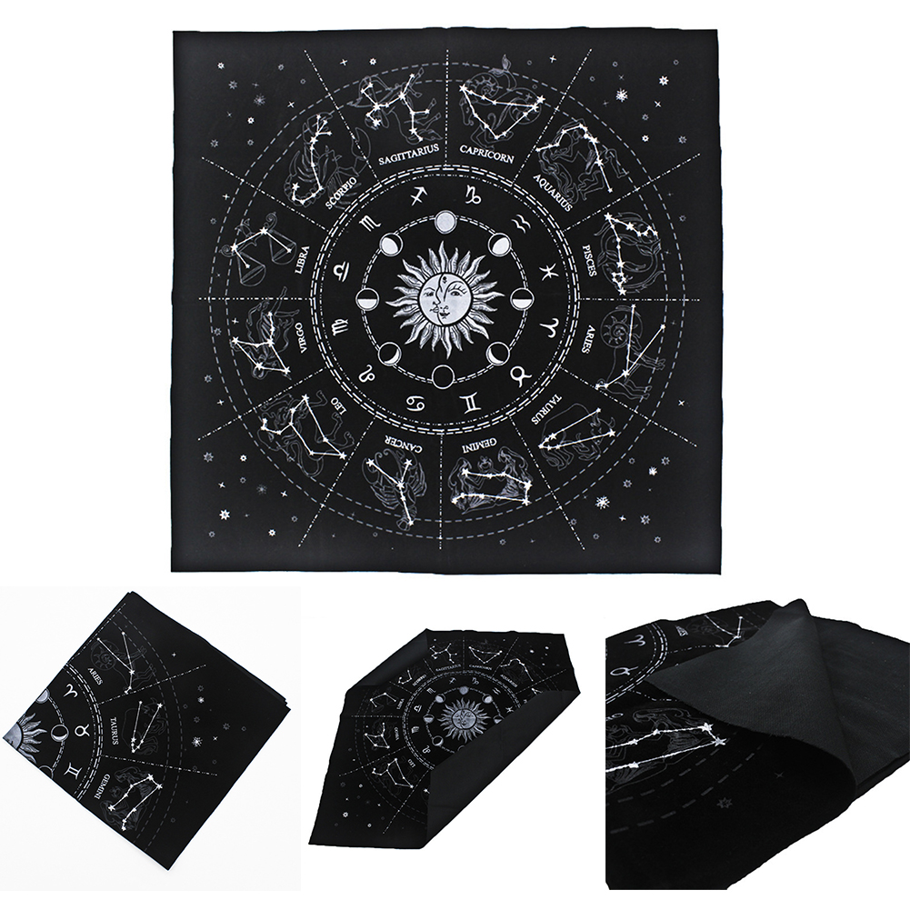 Wicca Velveteen Square Tapestry Flannel Divination Cards Board Game Tarot Cloth Psychological Home Decor Mysterious Playing
