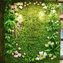 New Artificial Plant Lawn DIY Background Wall Simulation Grass Leaf Wedding Decoration Green Wholesale Carpet Turf Home Decor