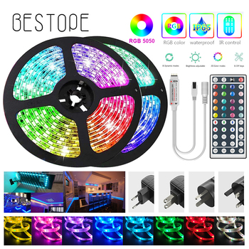 diy home smart zigbee strip controller work with amazon echo 5m 20 m set rgb 5050 led strip light non waterproof dc12v RGB LED Strip 5m 5050 DC12V Waterproof Led Strip Light  30 Leds/M Flexible Lighting Ribbon Tape Controller Adapter Set