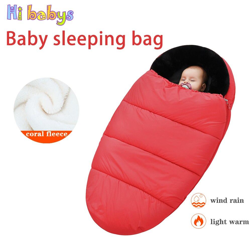 Winter Warm Baby Sleepsacks Envelope Baby Stroller Sleeping Bag Thicken Warm Infant Stroller Footmuff Keep Warm Windproof