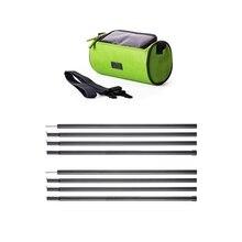 1 Pcs Waterproof Bicycle Handlebar Bag & 2 Pcs 4 Section Tent Pole