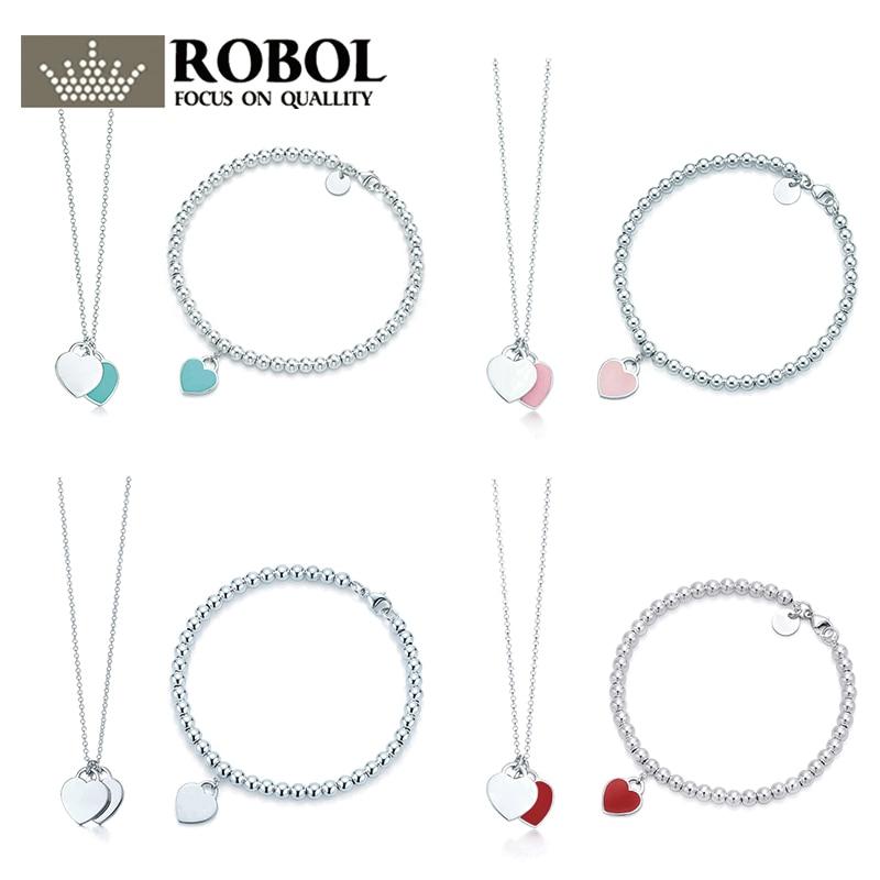 SL  TFB TTFF RLLEN Quality Original Classic Elegant  DIY Necklace Bracelet Set Multicolor Optional Women Jewelry Free Shipping