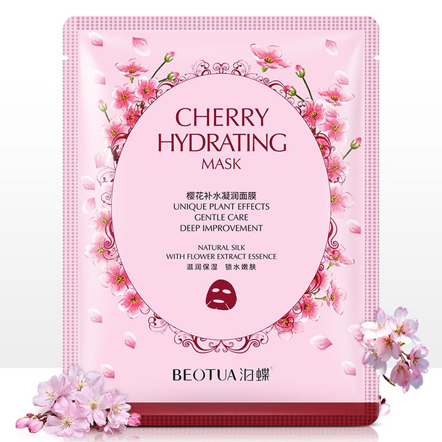 Rose fabric face masks facial acne Moisturizing Chamomile tissue mask for the face Whitening Cherry Oil-control korean skin care 2