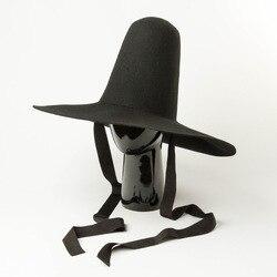 Женская Длинная шерстяная шляпа Fedora, модная дизайнерская шляпа с высоким верхом и яркими пятнами, 202002-hh8174
