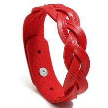 NIUYITID – Bracelets tressés en cuir PU pour femmes, accessoires de poignet à breloques pour filles, bijoux coréens bon marché, nouvelle collection