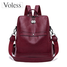 Women Backpack Designer High Quality Leather Women Bag Fashion School Bags Large Capacity Backpacks Travel Bags Bolsa Feminina brand new women backpack large capacity computer bag fashion black bags high quality travel rucksack backpacks