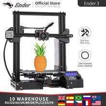 Ender 3 kit impressora 3d grande tamanho de impressão ender3/Ender 3X impressoras continuação impressão creality potência 3d