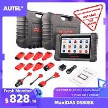 Autel Maxidas herramienta de diagnóstico de coche DS808K, OBD2, escáner de cobertura Original para 80 MARCAS, KIT completo, lector de código