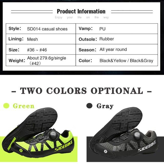 Sidebike 2 cores sapatos de ciclismo men pro team mountain road bicicleta sapatos de borracha respirável desbloqueado sapatos mtb 36-46 tamanho 3