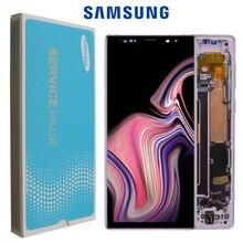 ORIGINAL SUPER AMOLED 6,4 LCD mit rahmen für SAMSUNG GALAXY Note 9 Note9 N960F Display Touchscreen Digitizer Montage