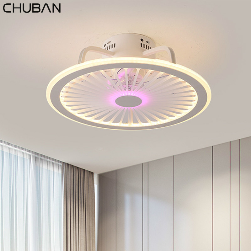 Retro Smart Ceiling Fan Lamp With Lights Remote Control Lights Ceiling 50cm With APP Control Bedroom Decor Ceiling Fans Modern