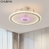 Retro Smart Ceiling Fan Lamp with Lights Remote Control Lights Ceiling 50cm with APP Control Bedroom Decor Ceiling Fans Modern