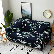 Floral Printed Universal Slipcover Sectional Sofa Cover All-inclusive Couch Case Tight Wrap Elastic Furniture Protector