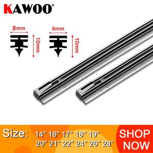 "KAWOO 1pcs Car Windscreen Wiper Blade Insert Rubber Strip (Refill) 8mm/6mm Soft 14""16""17""18""19""20""21""22""24""26""28"" Accessories(China)"