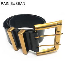 RAINIE SEAN Wide Belts for Dresses Real Leather Women Belt V
