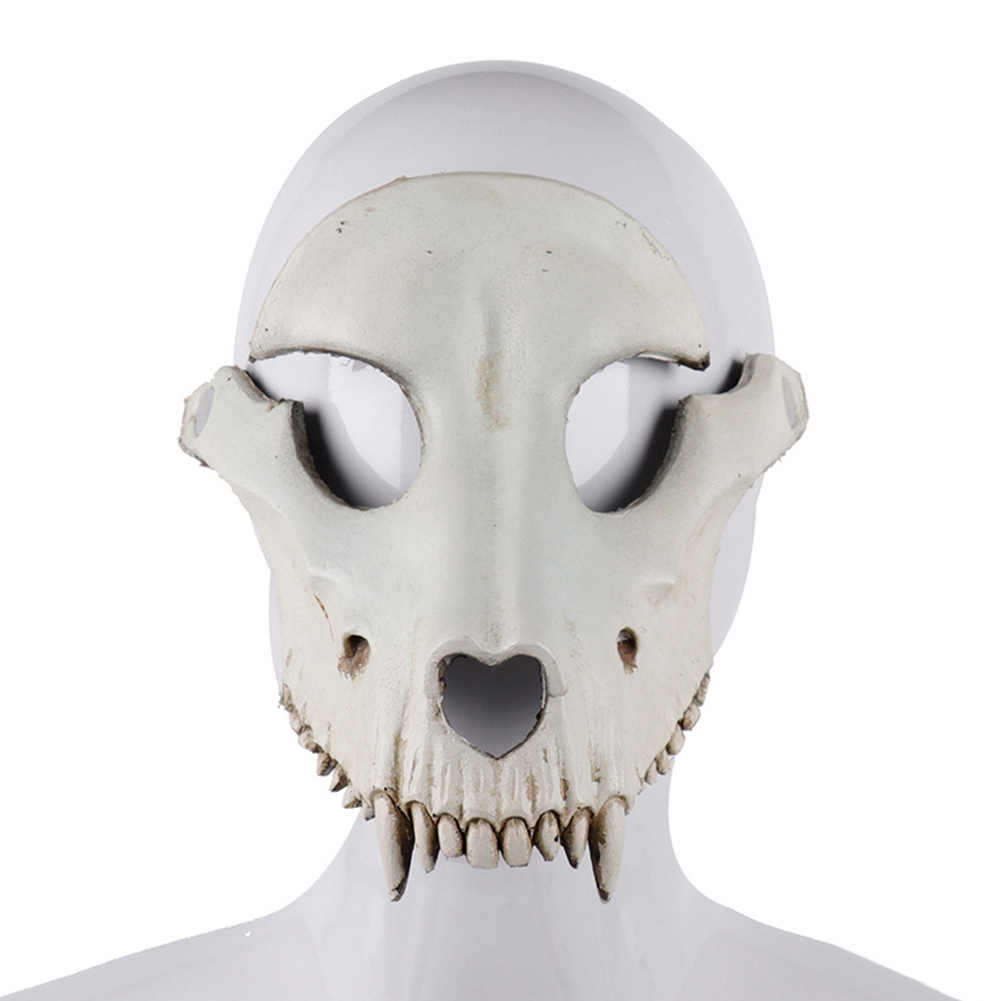 Halloween Full Face Goat Skull Shape Mask Halloween Cosplay Masquerade Party Sheep Skull Facial Mask Costume Party Decoration