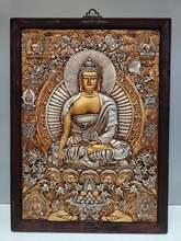 """Домашний декор 30 """"Тибетский буддистский храм старое красное"""