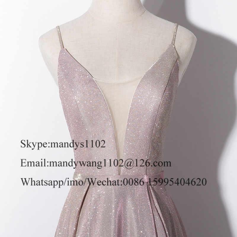 Mbcullyd גליטר נצנצים נשף שמלת 2019 חדש פורמליות אונליין ארוך שמלות ערב תחרות זול בתוספת גודל Vestidos דה גאלה